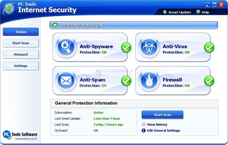 Pantallazo PC Tools Internet Security