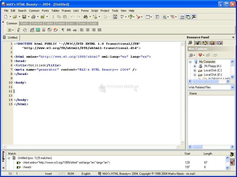 Pantallazo Max`s HTML Beauty 2004