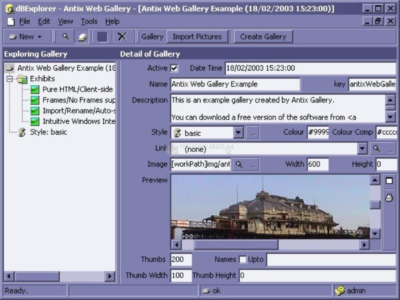 Pantallazo Antix Web Gallery