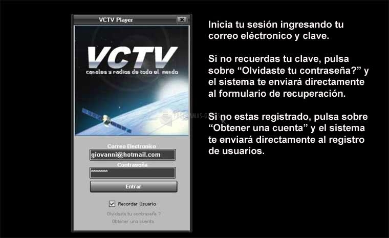 Pantallazo VCTV Player