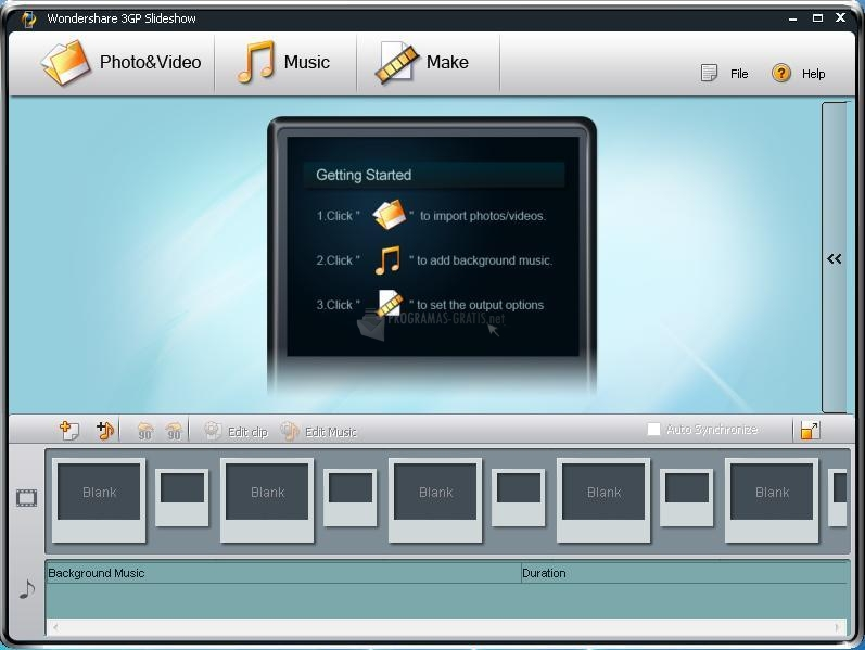Pantallazo Wondershare 3GP Slideshow