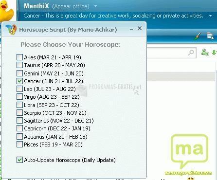 Pantallazo MSN Script Hor?po