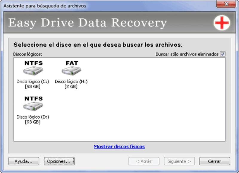 Pantallazo Easy Drive Data Recovery