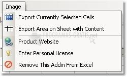 Pantallazo Excel Export to Image