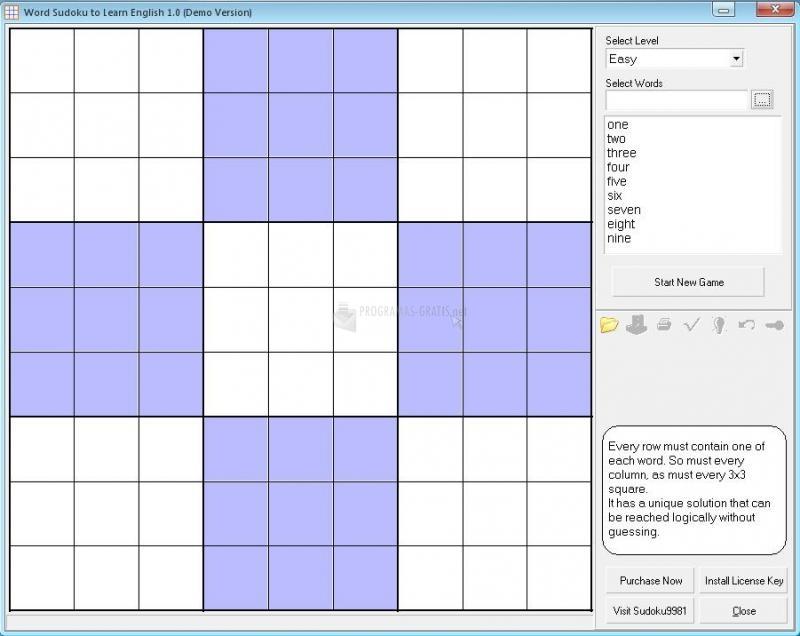 Pantallazo Word Sudoku to Learn English