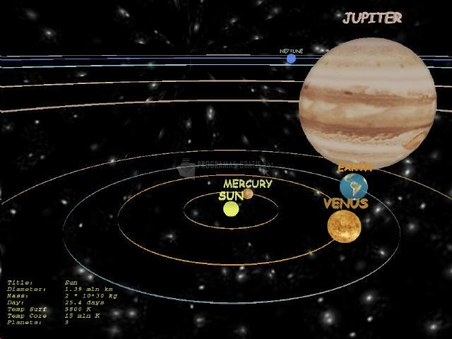 Pantallazo Altar Solar System 3D