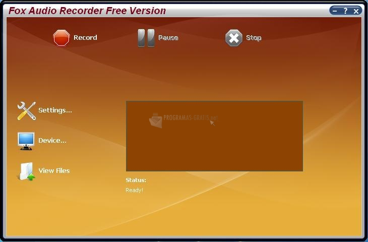 Pantallazo Fox Audio Recorder