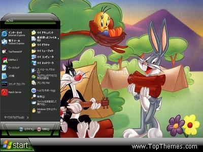 Pantallazo Looney Tunes Camping XP Theme