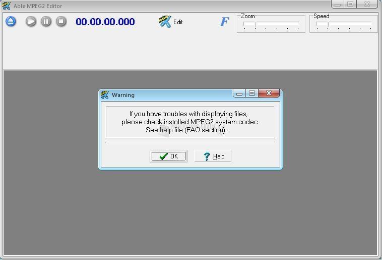 Pantallazo Able MPEG2 Editor