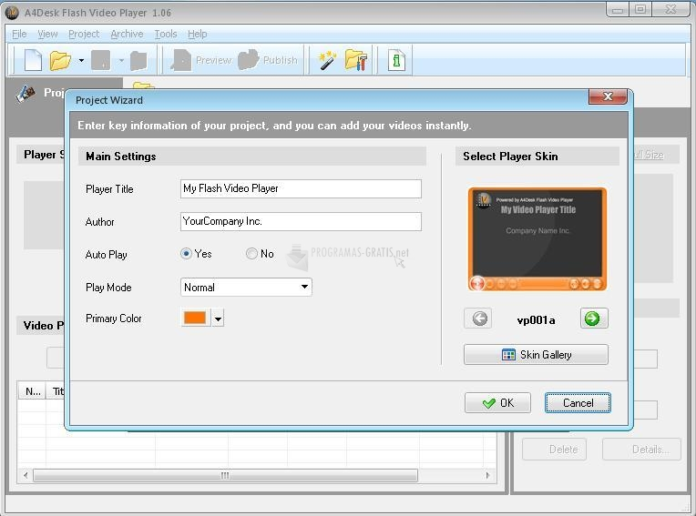 Pantallazo A4Desk Flash Video Player Software