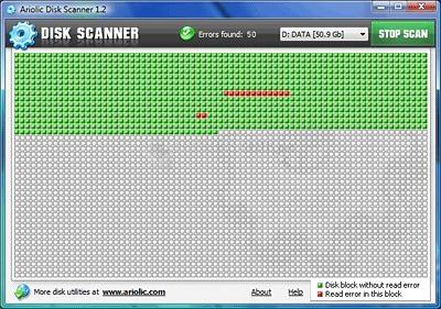 Pantallazo Ariolic Disk Scanner