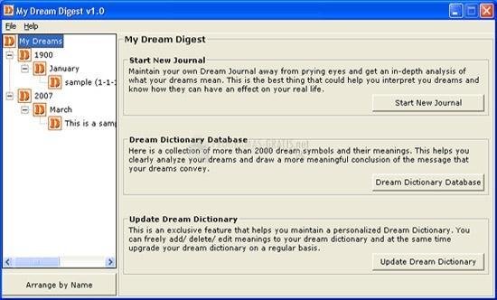 Pantallazo My Dreams Digest