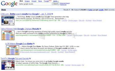 Pantallazo More Google