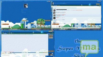 Pantallazo Skin MSN Super Mario