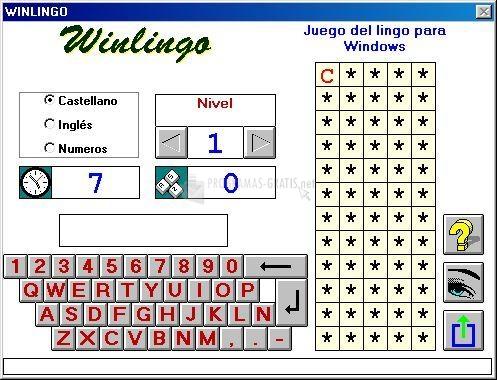 Pantallazo WinLingo