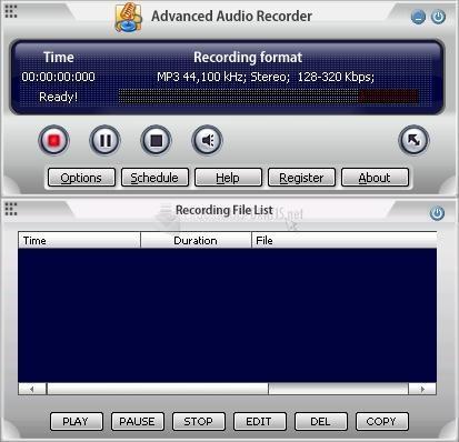 Pantallazo Advanced Audio Recorder