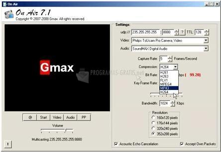 Pantallazo Gmax On Air