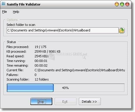 Pantallazo Saintly File Validator