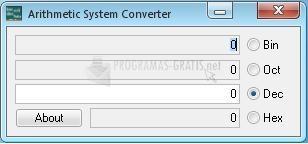 Pantallazo Arithmetic System Converter