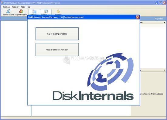 Pantallazo DiskInternals Access Recovery
