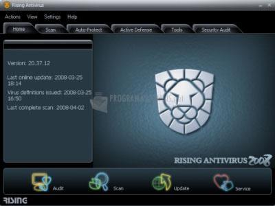 Pantallazo Rising Antivirus Free Edition