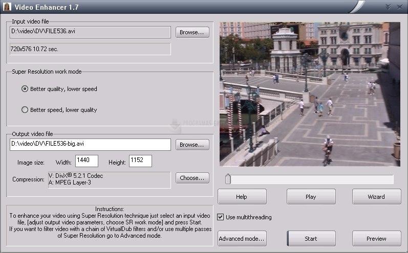Pantallazo Video Enhancer