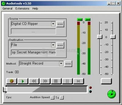 Pantallazo AudioTools