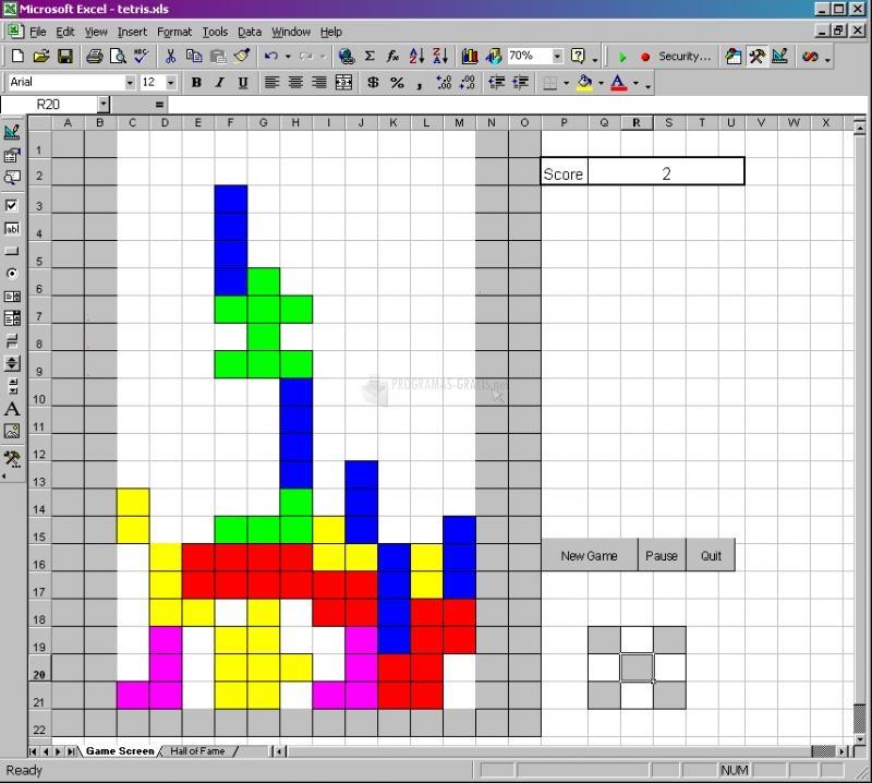 Descargar Excel Tetris 1 1 Gratis Para Windows