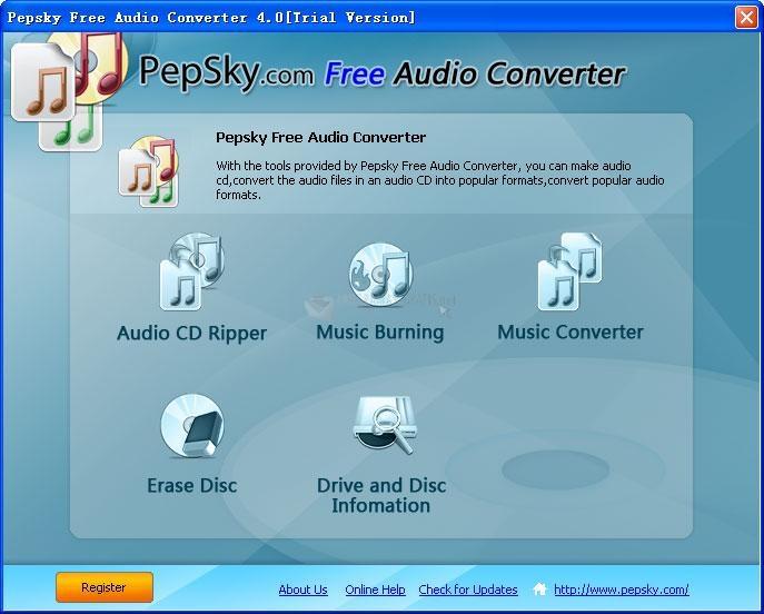 Pantallazo Pepsky Free Audio Converter