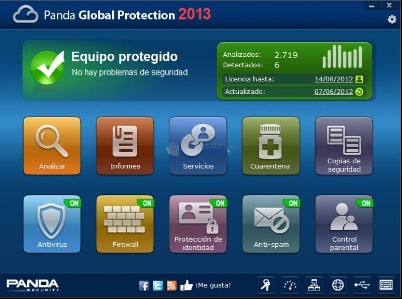 Pantallazo Panda Global Protection