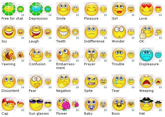 Pantallazo Smile Icons Set