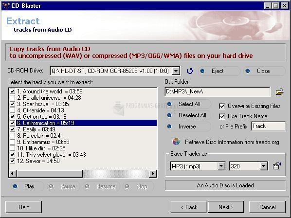 Pantallazo ABF CD Blaster