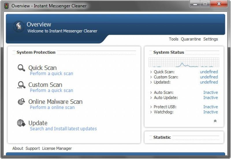 Pantallazo MSN Virus Cleaner