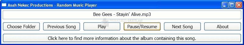 Pantallazo Random Music Player