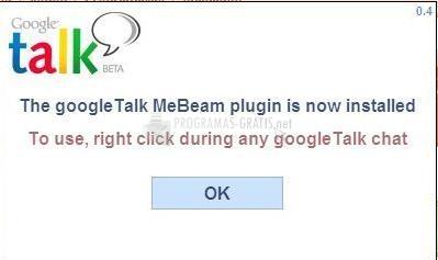 Pantallazo GoogleTalkMeBeam