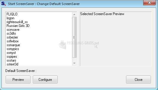 Pantallazo Start Screen Saver