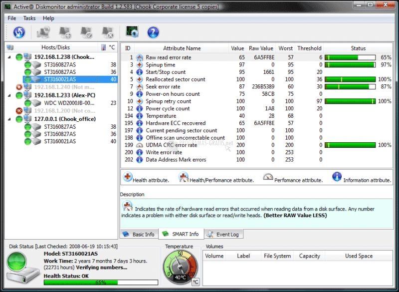 Pantallazo Active Hard Disk Monitor Free