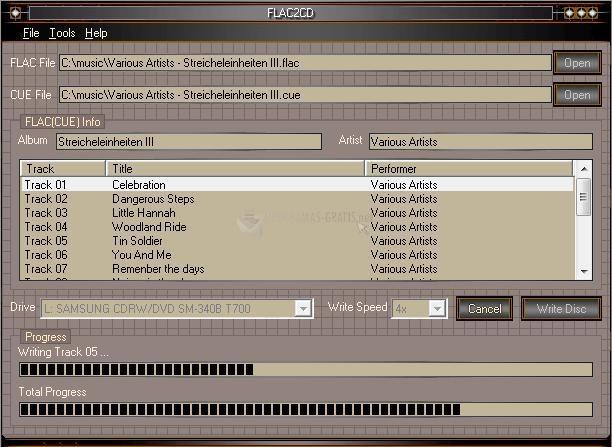 Pantallazo FLAC2CD