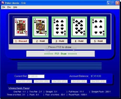 Pantallazo Poker Mania