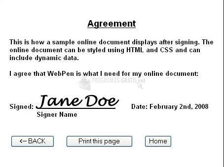 Pantallazo WebPen