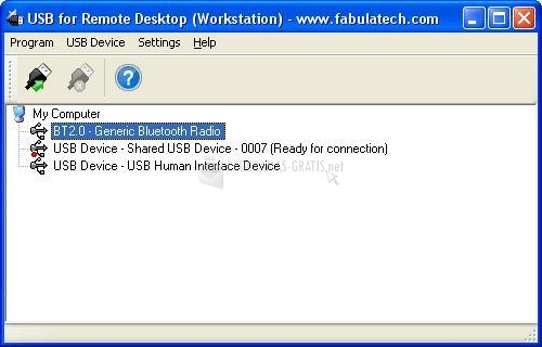 Pantallazo USB for Remote Desktop