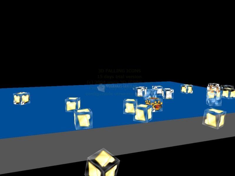 Pantallazo Falling Icons 3D