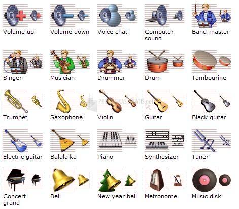 Pantallazo Music Icon Library