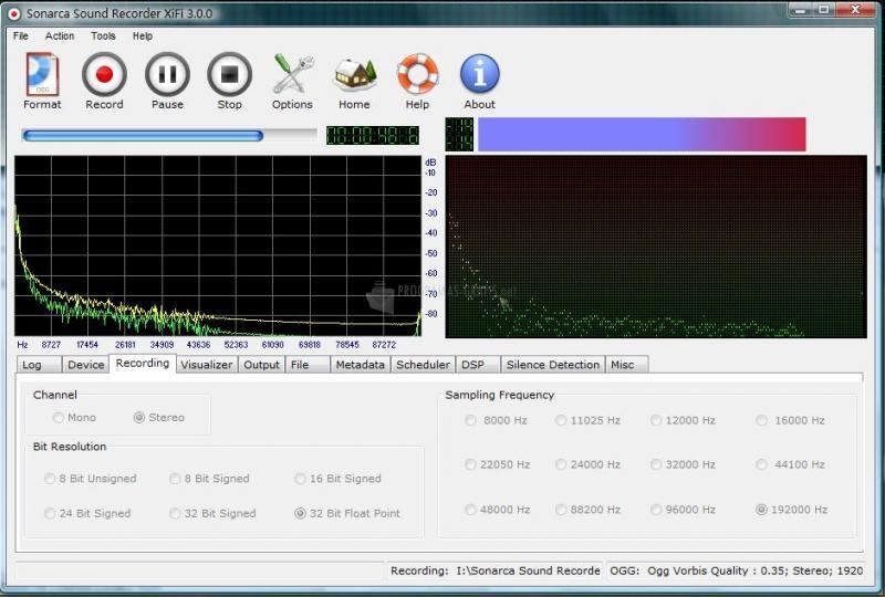 Captura Sonarca Sound Recorder