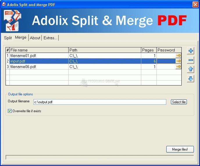 Pantallazo Adolix Split