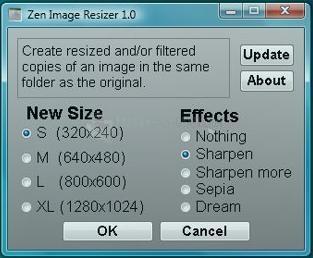 Pantallazo Zen Image Resizer