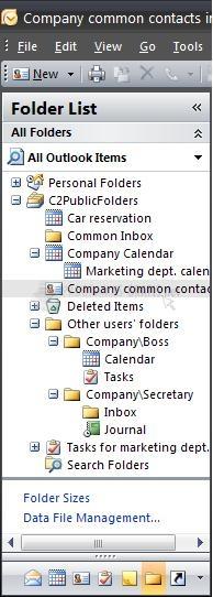 Pantallazo CodeTwo Public Folders