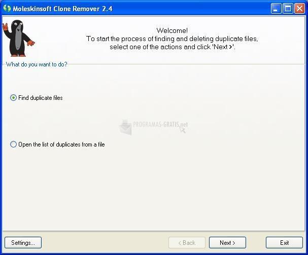 Pantallazo MoleskinSoft Clone Remover