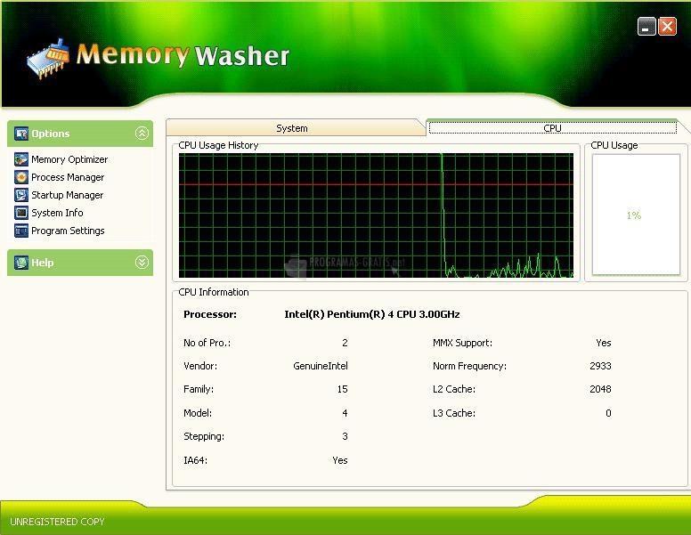 Pantallazo Giant Memory Washer
