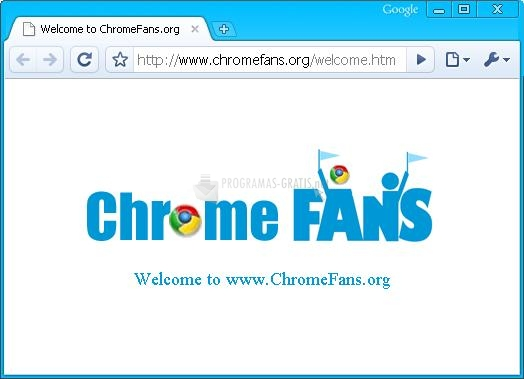 Pantallazo Deep Skyblue Google Chrome Theme